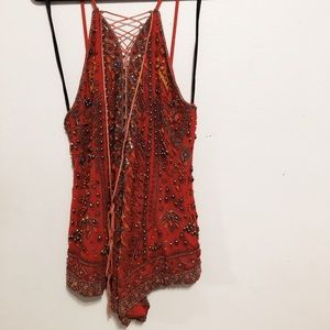 NBD beaded romper